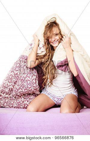 Woman Has Good Night's Sleep