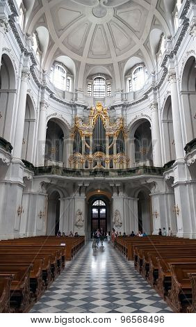 Dresden, Germany - July 2012, Old catholic church interior