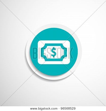 Flat icon of money market business sign symbol dollar