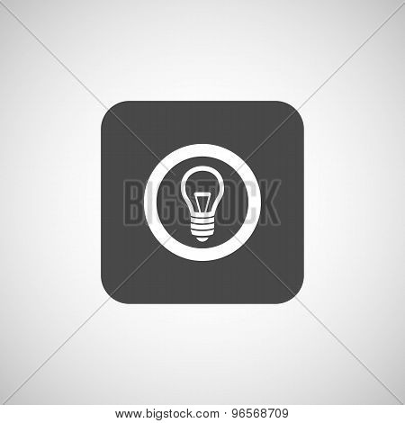 Light bulb vector icon vector lamp