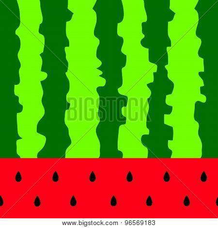 Watermelon Color Fruit Background Vector