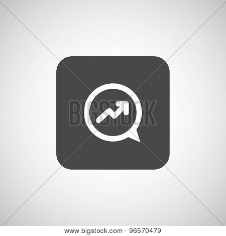 Infographic chart icon vector graph market business