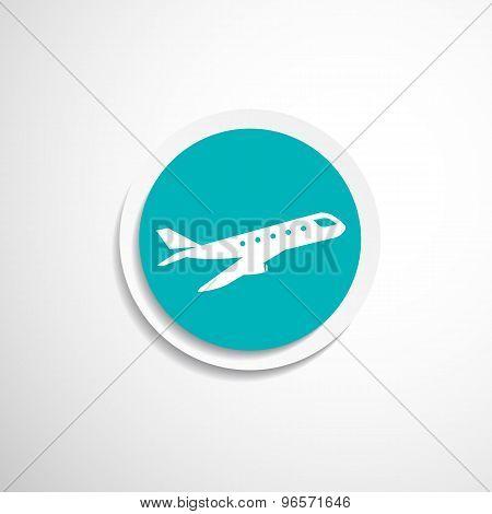 Airplane Plane symbol Travel icon