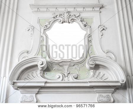 The Ornament Of A Fireplace Hood In A Neo Classical Villa Suitable As A Frame Or Border.