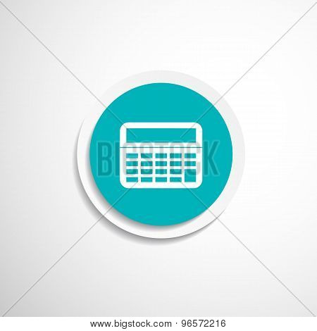 Vector Calculator Icon isolated displa, mathematics