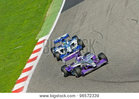 Vallelunga Circuit, Rome, Italy - November 2 2008. Superleague Formula, Cars On Track