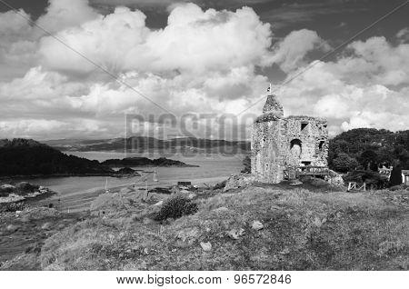 Tarbert Castle Loch Fyne, Kintyre, Scotland