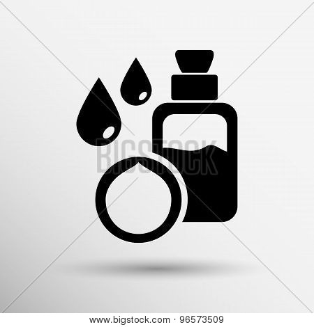 Macadamia natural oil, Vector illustration