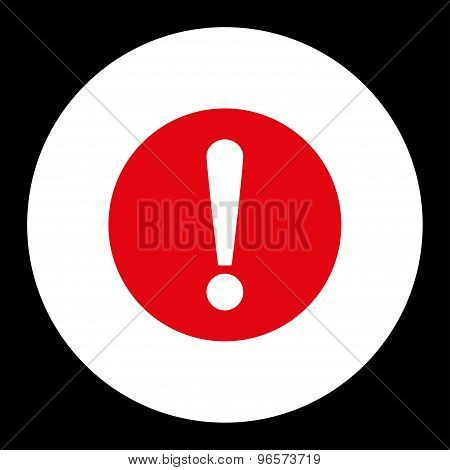 Problem flat red and white colors round button