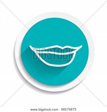mouth vector lipstick female icon flat
