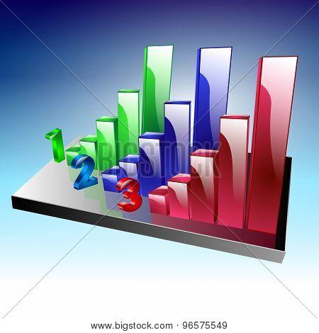vector illustration of graph