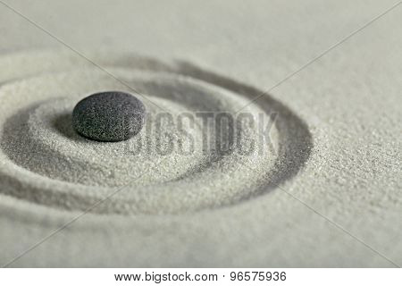 Zen garden with stone for relaxation