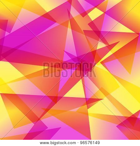 yellow red Fractal Abstract Background in different colors
