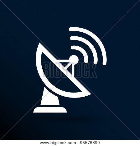 Radar Vector icon satellite dish tv technology