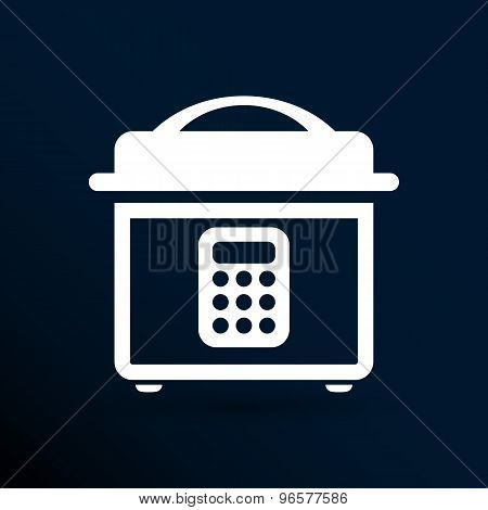 Multicooker monochrome icon  button chef cook cooker cooking