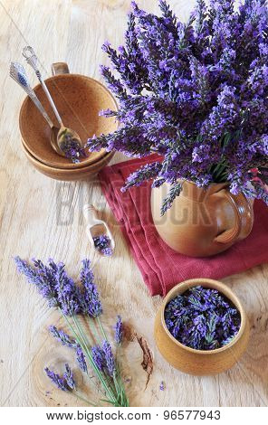 Bouquet Of Fresh Lavender