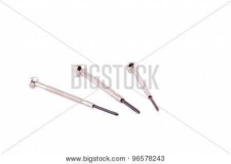 screwdriver on white background