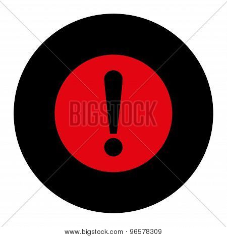 Problem flat intensive red and black colors round button