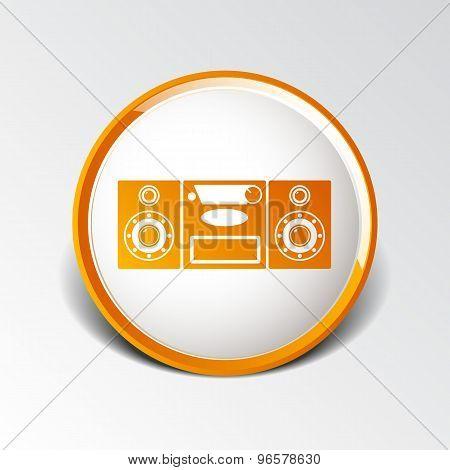 Music center icon Vector illustration art audio