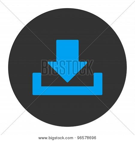 Download flat blue and gray colors round button
