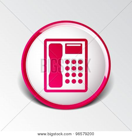 Telephone vector icon phone ip business concept