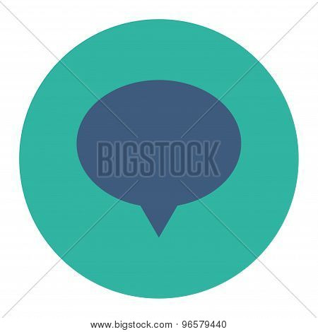 Banner flat cobalt and cyan colors round button