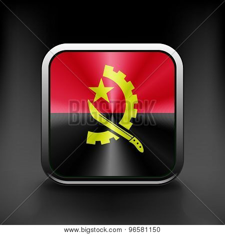 Angola flag national travel icon country symbol button
