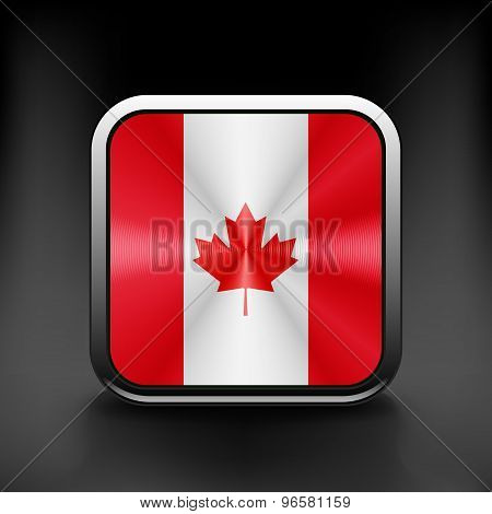 Canada icon flag national travel icon country symbol button
