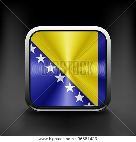 Bosnia and Herzegovina icon flag national travel icon country symbol button