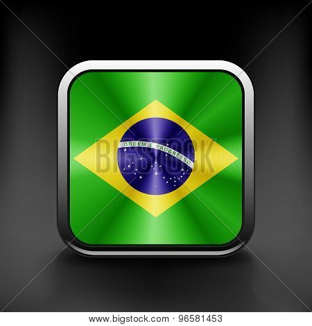 Brazil icon flag national travel icon country symbol button