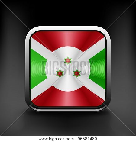 Burundi icon flag national travel icon country symbol button