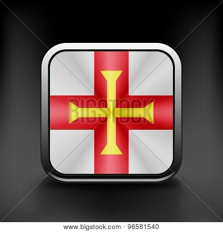 Guernsey icon flag national travel icon country symbol button