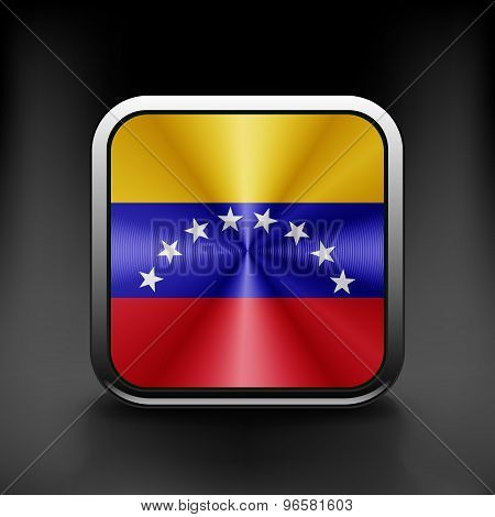 Venezuela icon flag national travel icon country symbol button