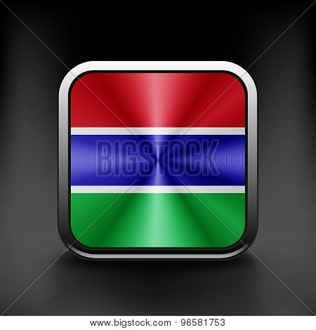 Gambia icon flag national travel icon country symbol button