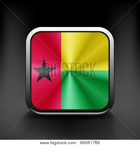 Guinea-Bissau icon flag national travel icon country symbol button