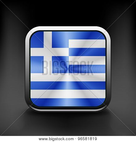 Greece icon flag national travel icon country symbol button
