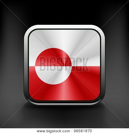Greenland icon flag national travel icon country symbol button