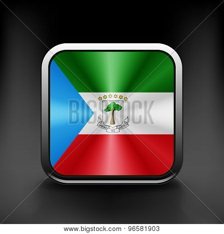 Equatorial Guinea icon flag national travel icon country symbol button