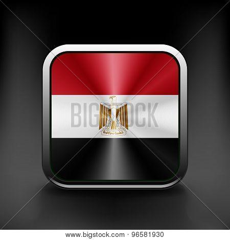 Egypt icon flag national travel icon country symbol button