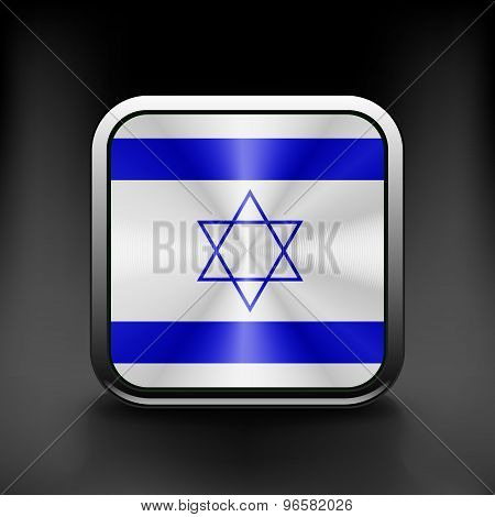 Israel icon flag national travel icon country symbol button