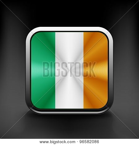 Ireland icon flag national travel icon country symbol button