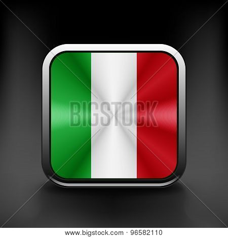 Italy icon flag national travel icon country symbol button