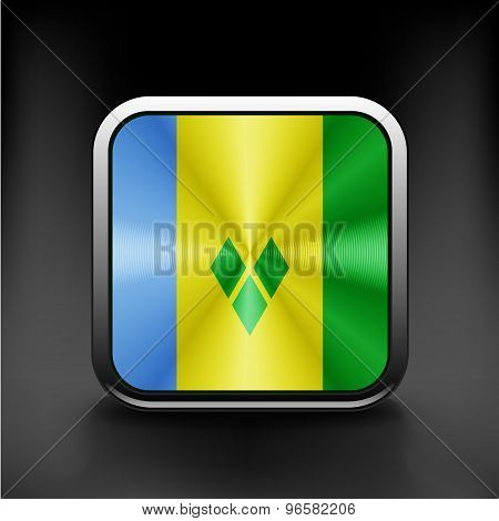 Flag of Saint Vincent and the Grenadines. Vector.