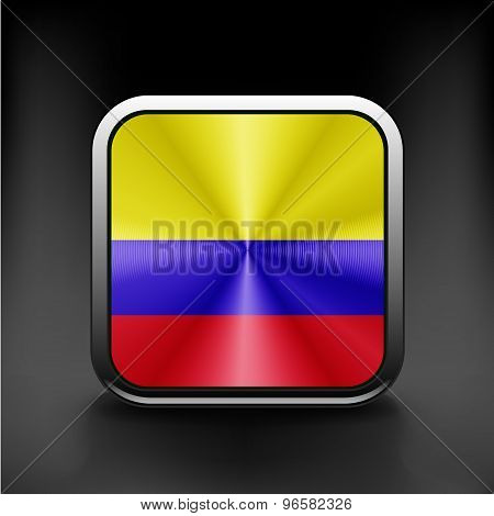 3D Ball with Flag of Colombia High resolution 3d