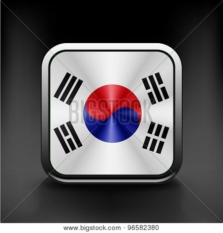 South Korea flag drawing lag sign, symbol illustration
