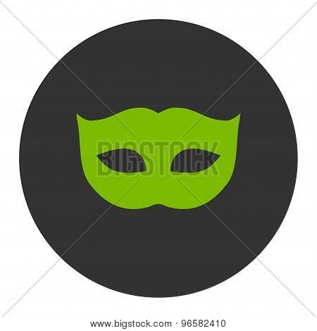 Privacy Mask flat eco green and gray colors round button