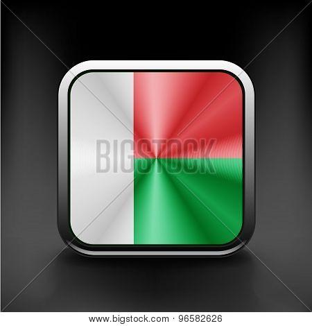 original and simple Madagascar flag isolated