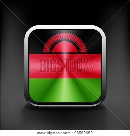 simple Malawi present flag isolated