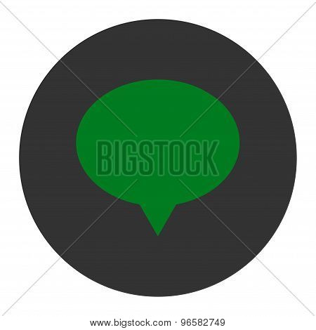 Banner flat green and gray colors round button