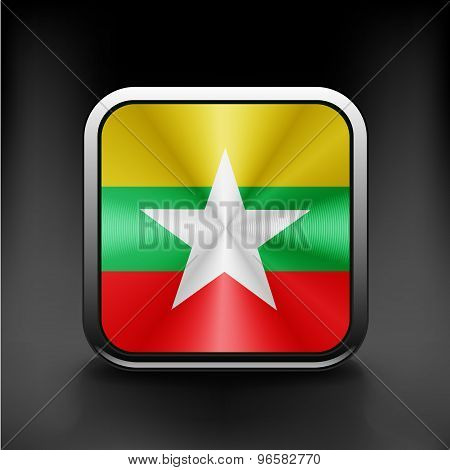 Myanmar flag burma territory state  icon